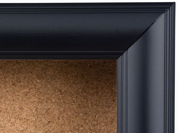 1 14 border black aluminum frame corkboard