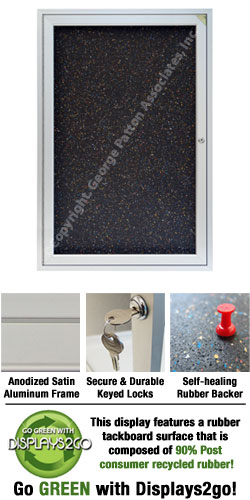 Enclosed Rubber Cork Board