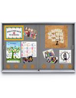 indoor enclosed bulletin board