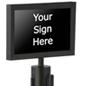 "11"" x 7"" Stanchion Sign Holder"