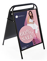 "22"" x 28"" Folding Sidewalk Sign"