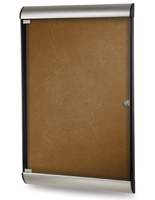Silhouette Enclosed Tackboard - Locking