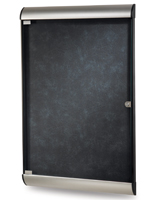 Silhouette Enclosed Tackboard with Aluminum Trim