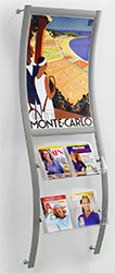 extra large poster frame with magazine pockets