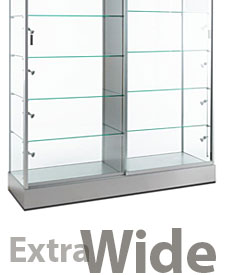 Extra wide display towers 48 inch and wider