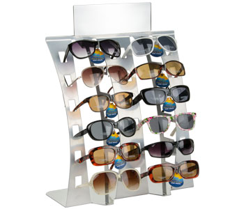 Displays for sunglasses and eyeglasses