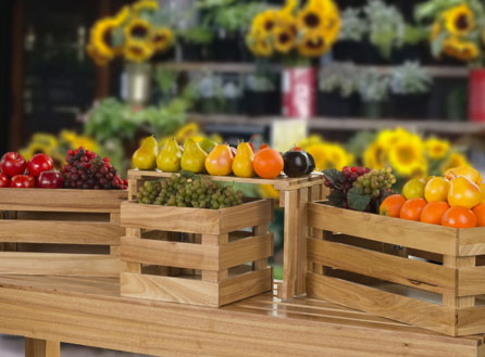 Farmers Market Shelves & Racks
