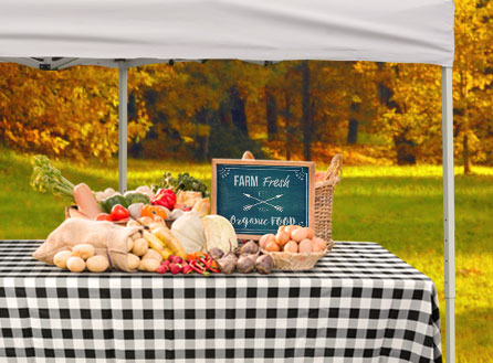 Farmers Market Table Displays