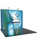 Custom Trade Show Booth with Counter