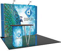 Custom Trade Show Booth with Silicone Edge Graphics