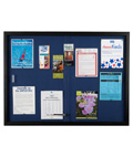 Blue Fabric Bulletin Board with Locking System