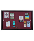 Maroon Fabric Tack Board with Showcase Lock