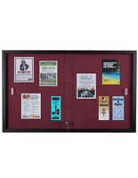 Maroon Fabric Tack Board with Semi Gloss Aluminum Frame