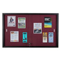 Maroon Fabric Tack Board with 1 Pair of Keys