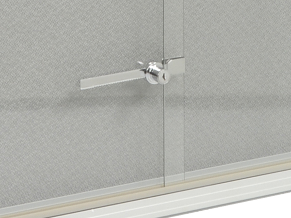 4 39 x 3 39 glass bulletin board w gray fabric interior - Standard interior door replacement key ...