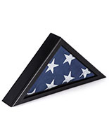 Burial Flag Case with Traditional Military Look
