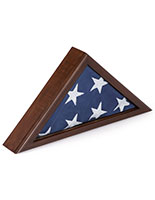 Memorial Flag Case with Title 4 Banner Size