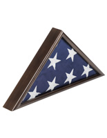 American-Made 5' x 9.5' Walnut Flag Case with Easy Rear Loading