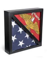 2-Flag Military Display Case for 5 x 9.5 Tri-Fold banners