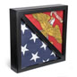 Black 2-Flag Military Display Case