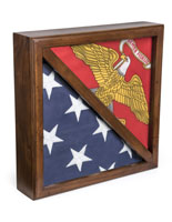 2-Flag Display Case with Tempered Glass Front