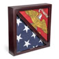 Dual Flag Commemorative Military Frame with Tempered Glass Front