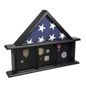 3-Bay Memorial Mantle Flag Display for 5 x 9.5 Banners