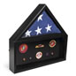 Flag and Memorabilia Commemorative Case Holds 5' x 9.5' Tri-Fold Banner