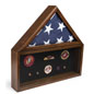 Flag and Memorabilia Commemorative Shadow Box for 5 x 9.5 Tri-Fold Banners