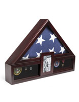 Flag Shadow Box with Picture Frame for 5 x 7 Photos
