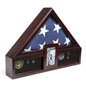 Flag Shadow Box with Picture Frame for 5 x 9.5 Tri-Fold Banners