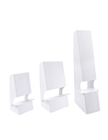 Double wing cardboard floor easel with double sided mounted tape