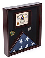 Certificate Shadow Box for Flag with Traditional Military Look