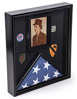 Flag and Document Case with Traditional Military Look