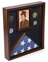 Certificate Flag Case with Solid Pine Construction