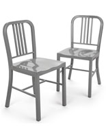 Silver Dining Side Chair Set of 2