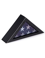 Veteran Flag Display Frame with Traditional Military Look