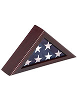Mantel Flag Case with Triangular Frame