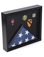 Flag Shadow Box Black Display Case for Title 4 Banner