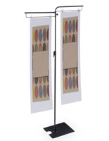 Dual Sign Clip Floorstand for Retail or Any Business