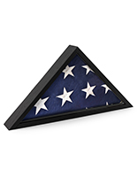 American made flag display case with 45% UV protected glass