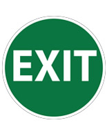 Safety floor exit sign with pre-printed message