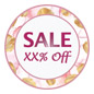 Personalized floral floor sale sticker with circle shape