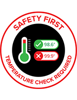 Safety first graphic floor decal with UV printing method