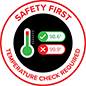 Safety first graphic floor decal with full color printing and non-skid backing