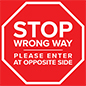 Stop directional floor decal with full color stock graphics