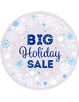 "12"" x 12"" round ""Holiday Sale"" floor decal for indoor or outdoor use"