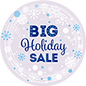 "12"" x 12"" round ""Holiday Sale"" floor decal for retail environments"