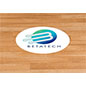 Branded sticky floor decal oval with UV digital printing