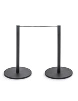 2-Post Section of the 8-Barrier Black Low Profile Stanchion System